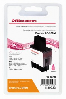 Cartridge Office Depot Brother LC900M - purpurová