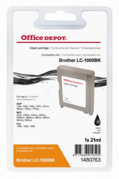 Cartridge Office Depot Brother LC1000BK - černá