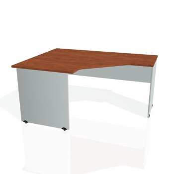 Psací stůl Hobis GATE GEV 80 pravý, calvados/šedá