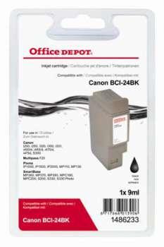 Cartridge Office Depot Canon BCI-24BK -  černá