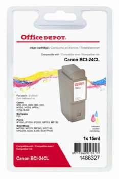 Cartridge Office Depot Canon BCI-24C - 3 barvy