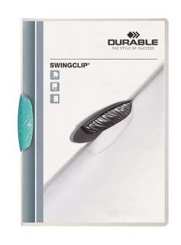 Desky s klipem SWINGCLIP COLOR TRANSPARENT, světle modré