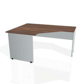 Psací stůl Hobis GATE GEV 80 pravý, ořech/šedá