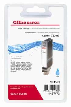Cartridge Office Depot Canon CLI-8C - azurová