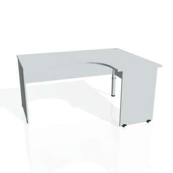 Psací stůl Hobis GATE GE 2005 levý, šedá/šedá