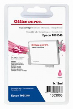 Cartridge Office Depot Epson T061340 - purpurová
