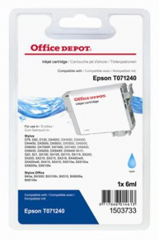 Cartridge Office Depot Epson T071240 - azurová