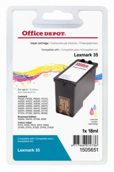 Cartridge Office Depot Lexmark 18C0035E - tříbarevná