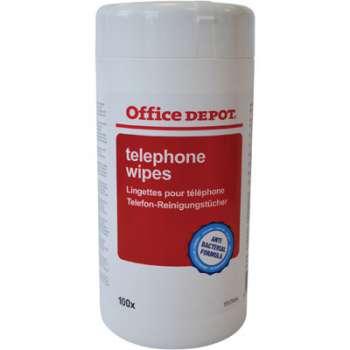 Vlhké antibakteriální kapesníčky na telefon Office Depot - v dóze, 100 ks