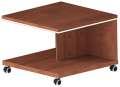 Konferenční mobilní stolek Lenza Wels - višeň