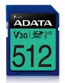 ADATA SDXC karta 512GB UHS-I U3 Class 10, Premier Pro (R: 95MB / W: 60MB)
