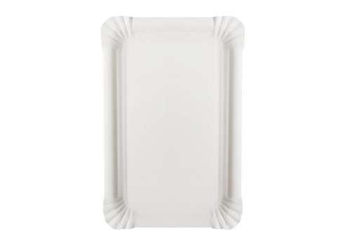 Lepenkové tácky - bílé, 100 ks