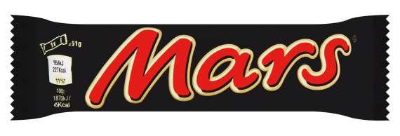 Tyčinka Mars, 51 g