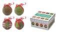 Sada čtyř vánočních ozdob v krabičce