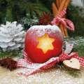 Sváteční ubrousky - motiv jablíčko, 33x33 cm