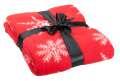 Červená deka s vánočním motivem