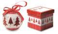 Vánoční ozdoba s perleťovým lakem v krabičce