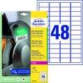 Ultra odolné etikety Avery Zweckform - bílé, 45,7 x 21,2 mm, 480 ks