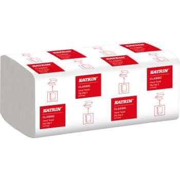 Papírové ručníky ZZ Katrin Classic - dvouvrstvé, bílá