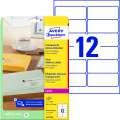 Etikety na zásilky Avery Zweckform - transparentní, 99,1 x 42,3 mm, 300 ks
