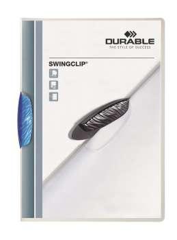 Desky s klipem SWINGCLIP COLOR TRANSPARENT, tmavé modré