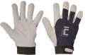 Kombinované rukavice PELICAN - bílo-modrá, vel. 9