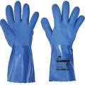 Celomáčené rukavice NIVALIS FH v modrém PVC - vel. 10