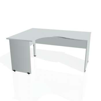 Psací stůl Hobis GATE GE 2005 pravý, šedá/šedá