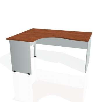 Psací stůl Hobis GATE GE 2005 pravý, calvados/šedá