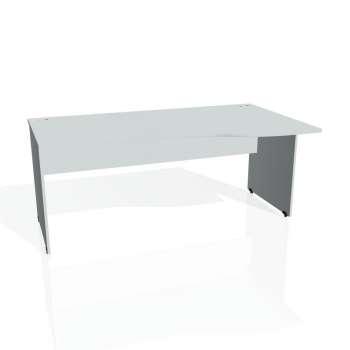 Psací stůl Hobis GATE GE 1000 levý, šedá/šedá