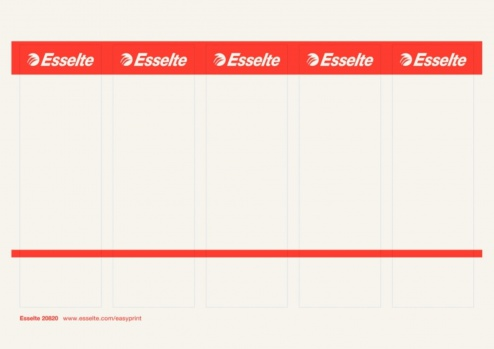 Potisknutelné zasouvací etikety pro pákové pořadače Esselte 7,5 cm, 50 ks
