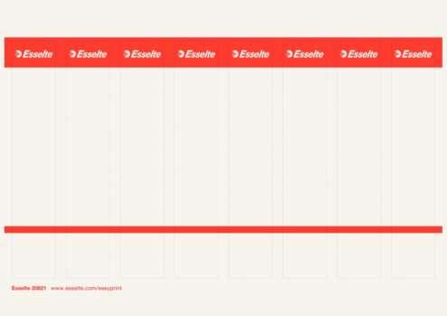 Potisknutelné zasouvací etikety pro pákové pořadače Esselte 5 cm, 80 ks