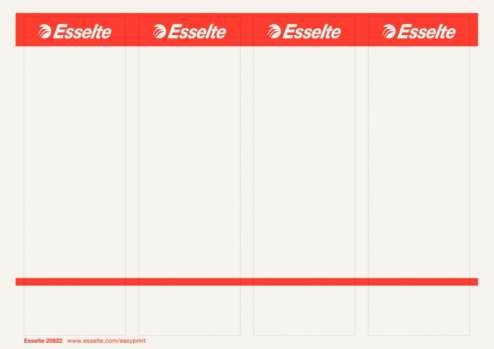 Potisknutelné samolepicí etikety pro pákové pořadače Esselte 7,5 cm, 40 ks