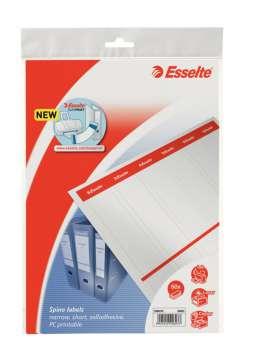 Potisklnutelné samolepicí etikety pro pákové pořadače Esselte, 5 cm, 60 ks