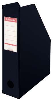 Stojan na časopisy Economy Esselte - 7 cm, černá