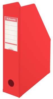 Stojan na časopisy Economy Esselte - 7 cm, červený