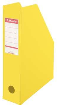 Stojan na časopisy Economy Esselte - 7 cm, žlutá