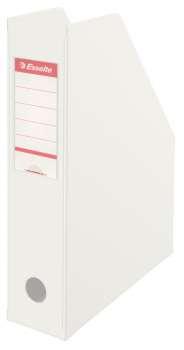 Stojan na časopisy Economy Esselte - 7 cm, bílý