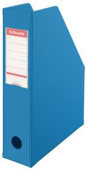 Stojan na časopisy Economy Esselte - 7 cm, modrá