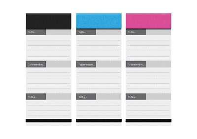 Magnetický papírový blok Quartet - 8 x 19 cm, mix barev, 75 listů