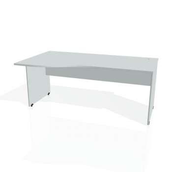 Psací stůl Hobis GATE GE 1000 pravý, šedá/šedá