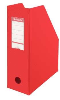 Stojan na časopisy Economy Esselte - 10 cm, červený