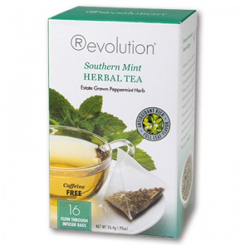 Čaj Revolution máta (bez kofeinu), 16 x 1,65 g