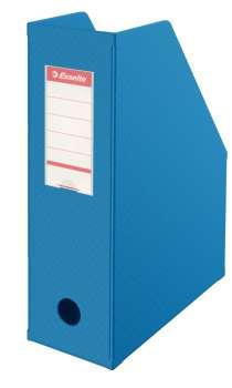 Stojan na časopisy Economy Esselte - 10 cm, modrý