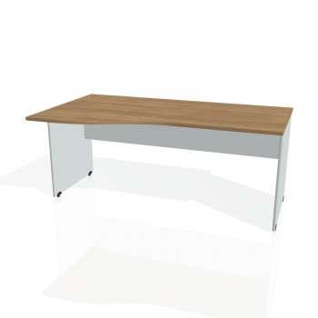 Psací stůl Hobis GATE GE 1000 pravý, višeň/šedá