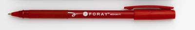 Kuličkové pero Foray s uzávěrem - červené, 12 ks
