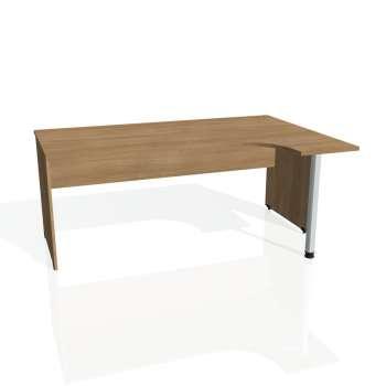 Psací stůl Hobis GATE GE 1800 levý, višeň/višeň
