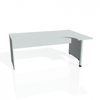 Psací stůl Hobis GATE GE 1800 levý, šedá/šedá