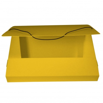Box prešpánový na spisy s gumičkou A4, žlutý