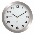 Nástěnné hodiny Alba - plastové, průměr 38 cm, stříbrné